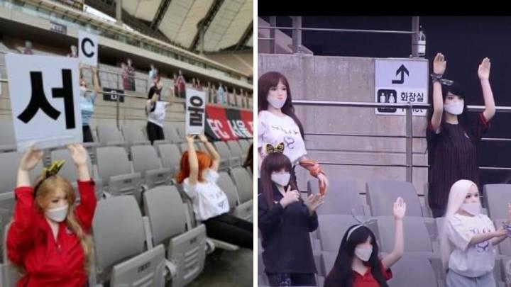 Pusieron muñecas sexuales en las tribunas y tuvieron que pedir perdón — Insólito
