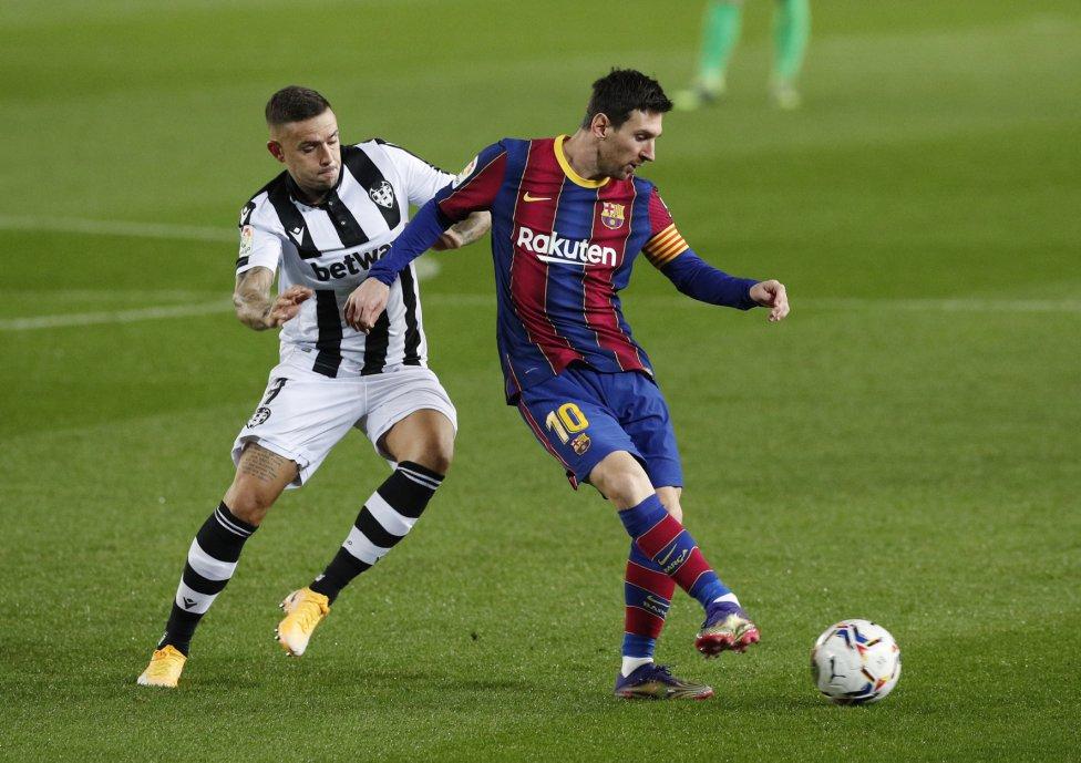 Leo Messi y Roger Martí.