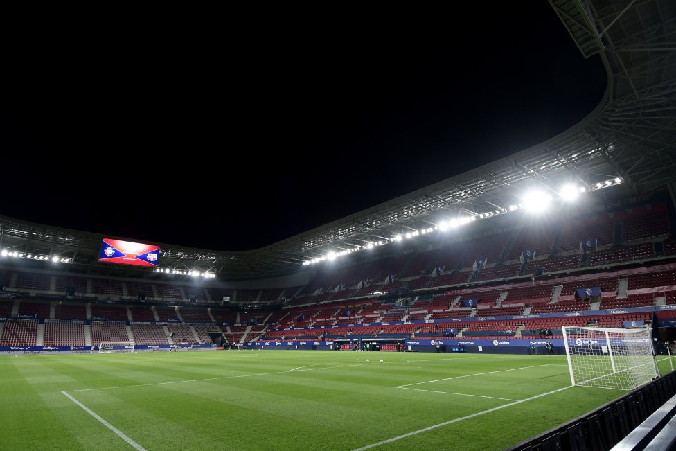 Panorámica interior del estadio El Sadar.