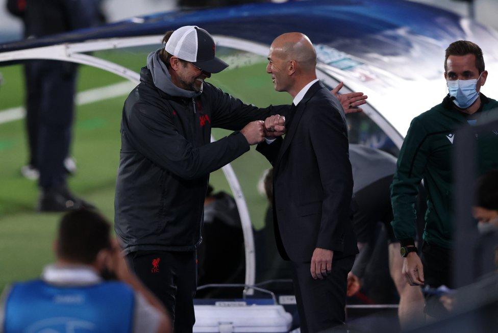 Jürgen Klopp y Zinedine Zidane.