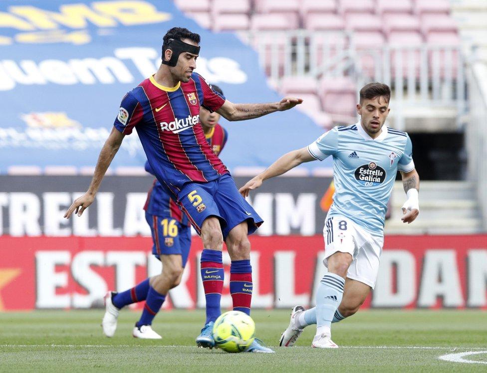 Sergio Busquets y Fran Beltrán.