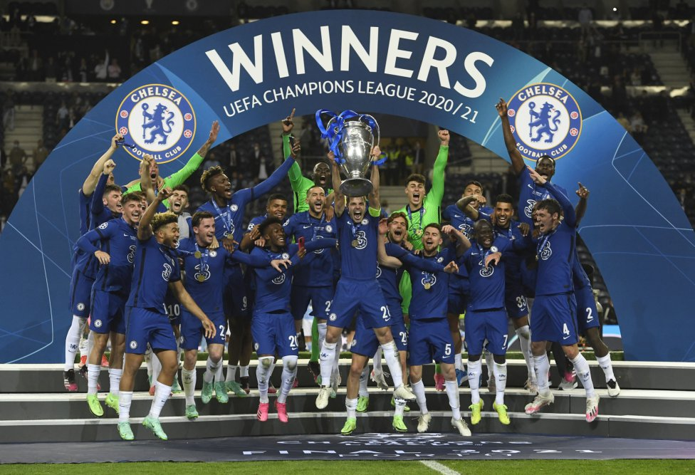 El Chelsea campeón de la Champions League.