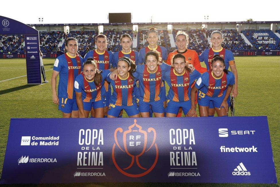 El once inicial del FC Barcelona.
