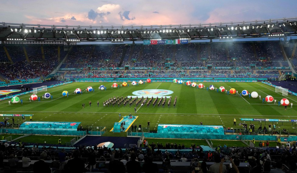 Euro 2021 opening ceremony: in pictures