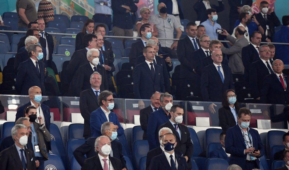 Palco. Aleksander Ceferin presidente def UEFA.