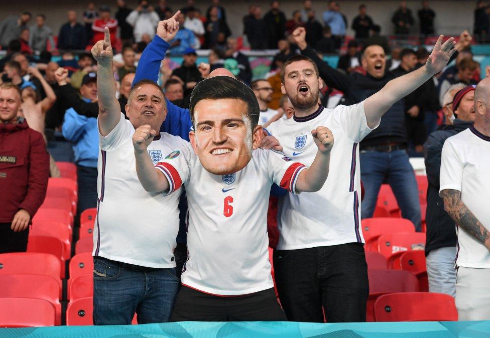 Aficionados de la selección de Inglaterra.