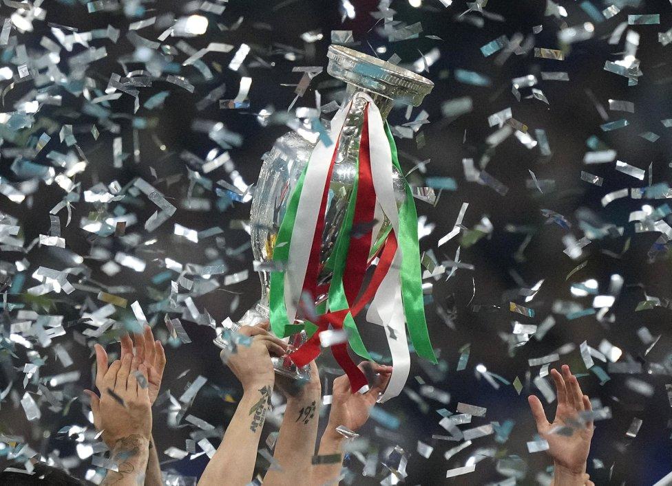 La selección de Italia campeona de Europa.