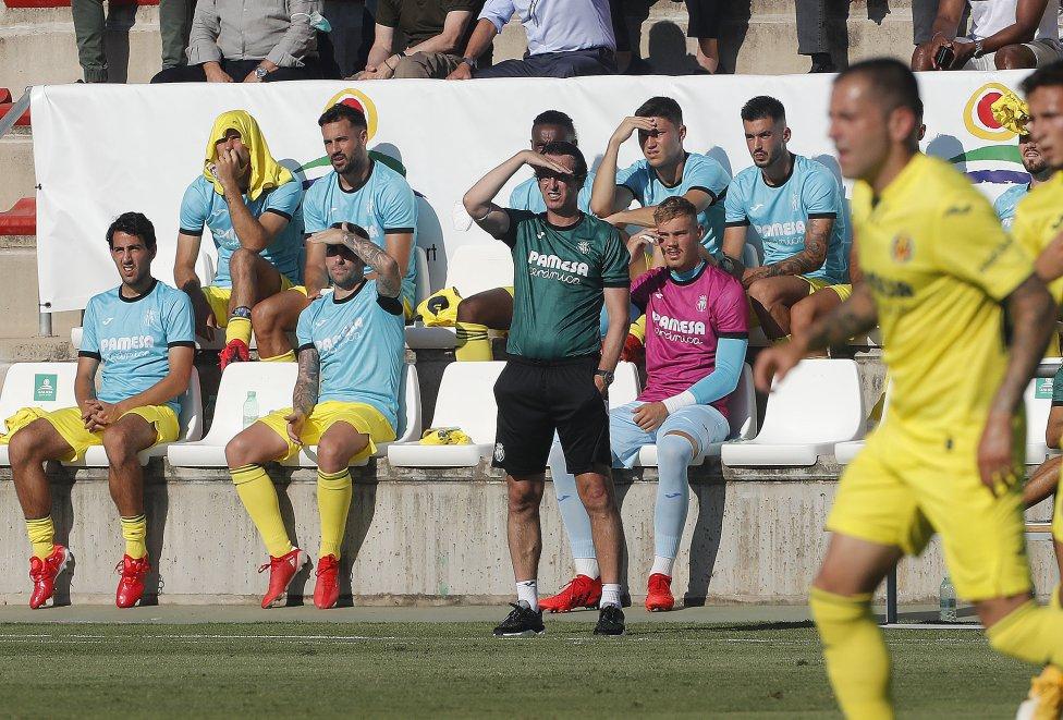 Unai Emery durante el partido