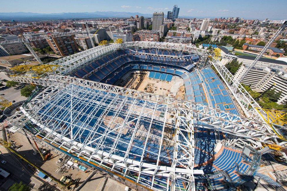 Latest photos of the new Santiago Bernabéu