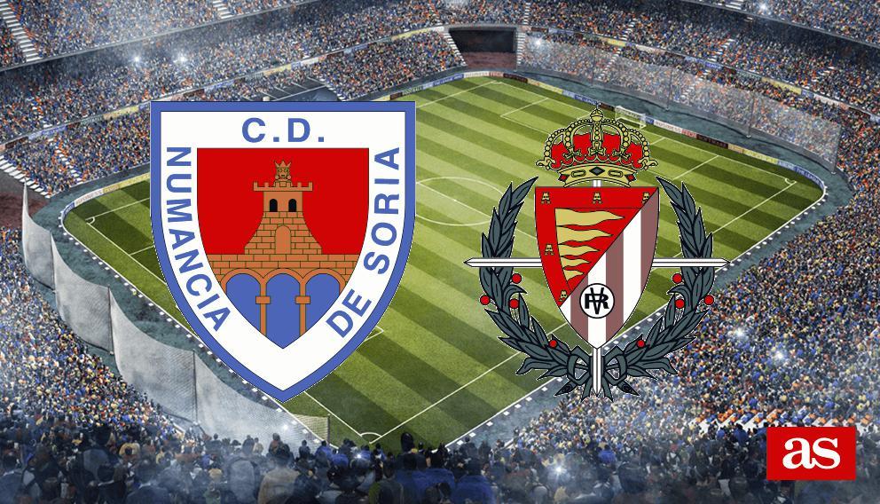 Numancia 2-1 Valladolid: resumen, resultado y goles