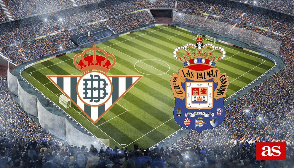 Betis - Las Palmas en directo y en vivo online: J12 Liga Santander