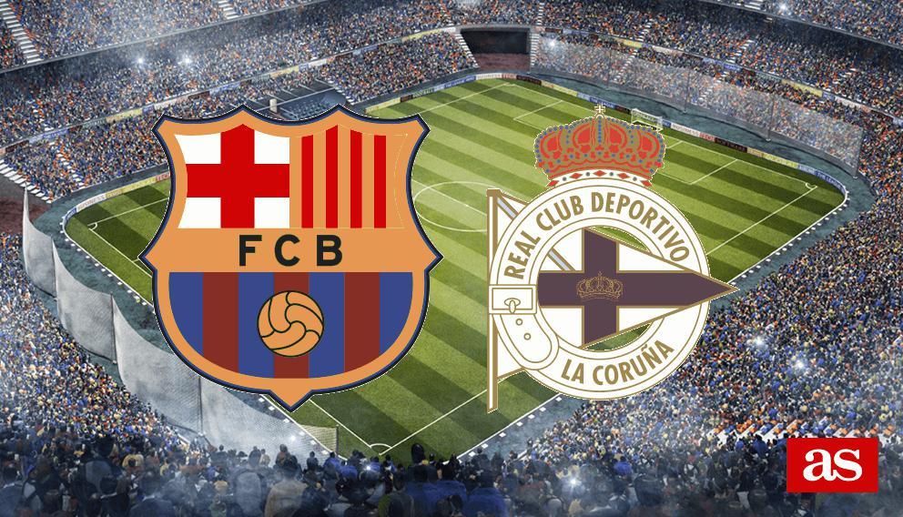Barcelona - Deportivo en vivo y en directo online: LaLiga Santander 2016/2017
