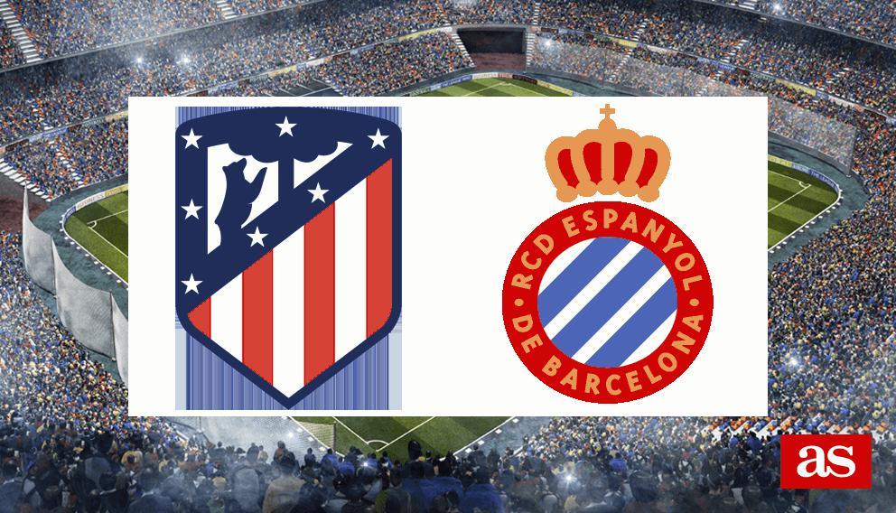 Atlético - Espanyol en vivo y en directo online: LaLiga Santander 2016/2017