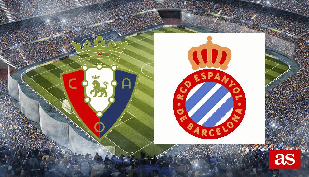 Osasuna - Espanyol en vivo y en directo online: LaLiga Santander 2016/2017