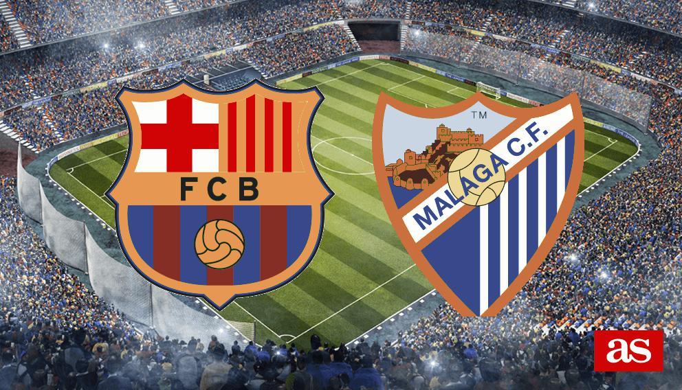 Barcelona - Málaga en vivo y en directo online: LaLiga Santander 2016/2017