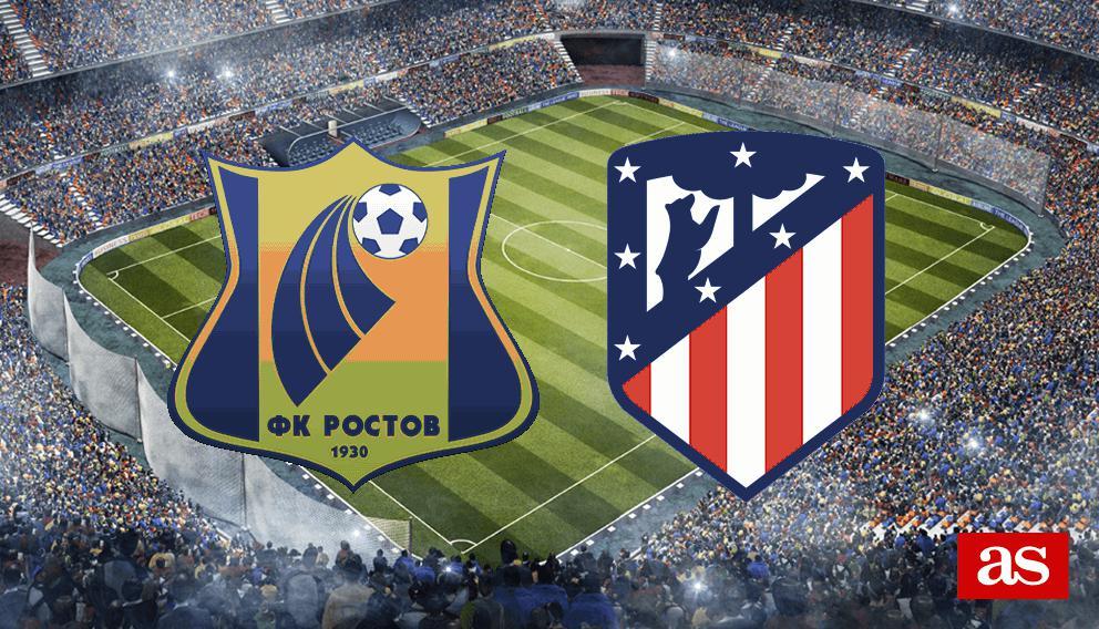 Rostov - Atlético en vivo y en directo online: Champions League 2016/2017