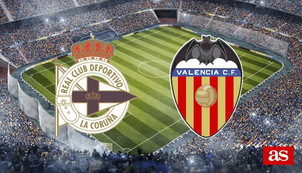 Deportivo - Valencia en vivo y en directo online: LaLiga Santander 2016/2017