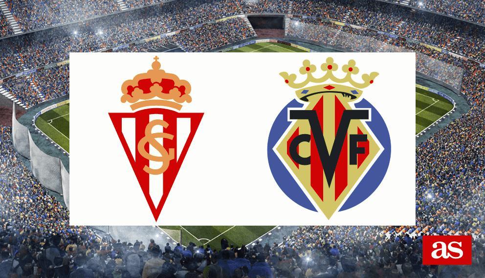 Sporting Gijón - Villarreal: resumen, goles y resultado