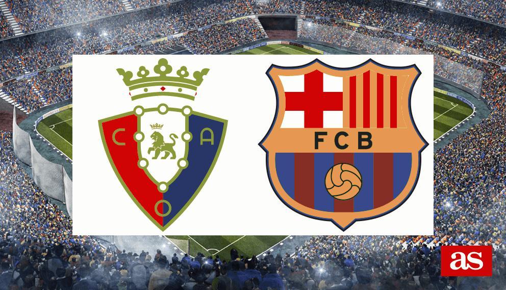 Osasuna - Barcelona en vivo y en directo online: LaLiga Santander 2016/2017