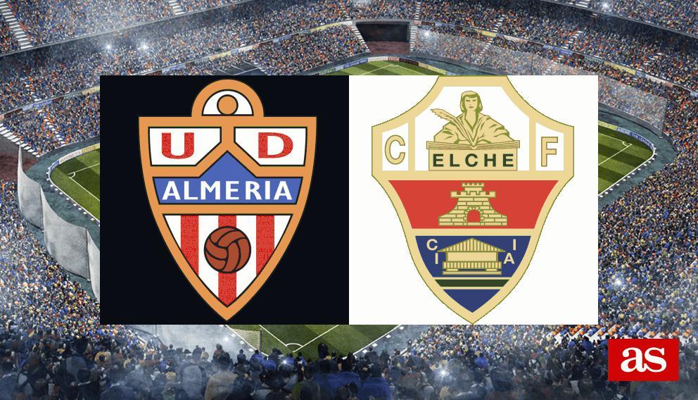 Almería - Elche: resumen, resultado y goles - J14 Liga 1,2,3