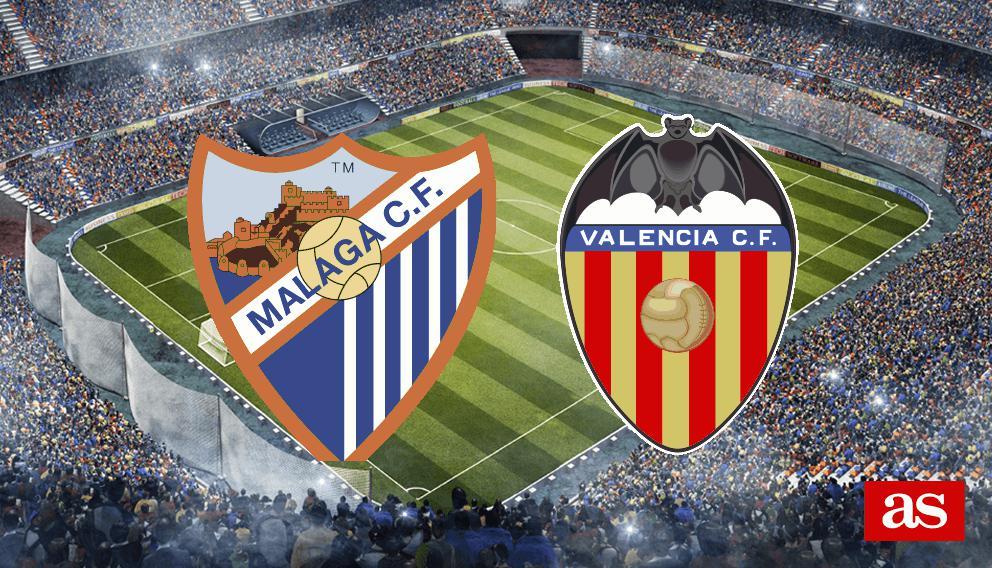 Málaga - Valencia en directo online: LaLiga Santander 2016/2017