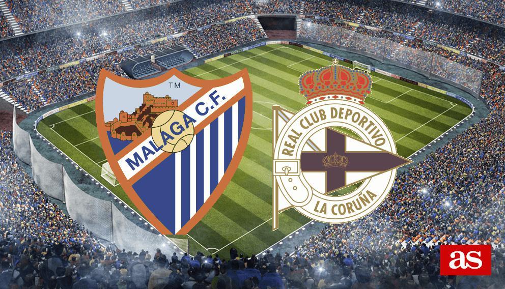 Málaga - Deportivo en vivo y en directo online: LaLiga Santander 2016/2017