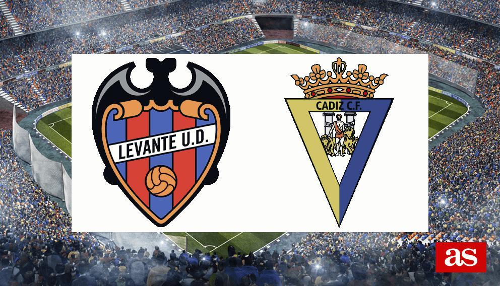 Levante - Cádiz: resumen, resultado y goles - J14 LaLiga 123