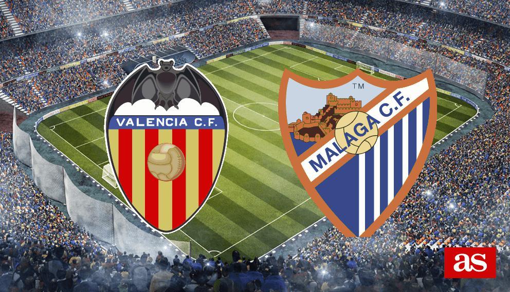 Valencia 2-2 Málaga: resumen, resultado y goles