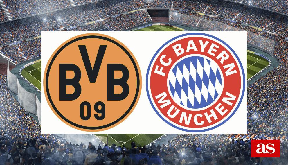 B. Dortmund - Bayern en vivo y en directo online: Bundesliga 2016/2017