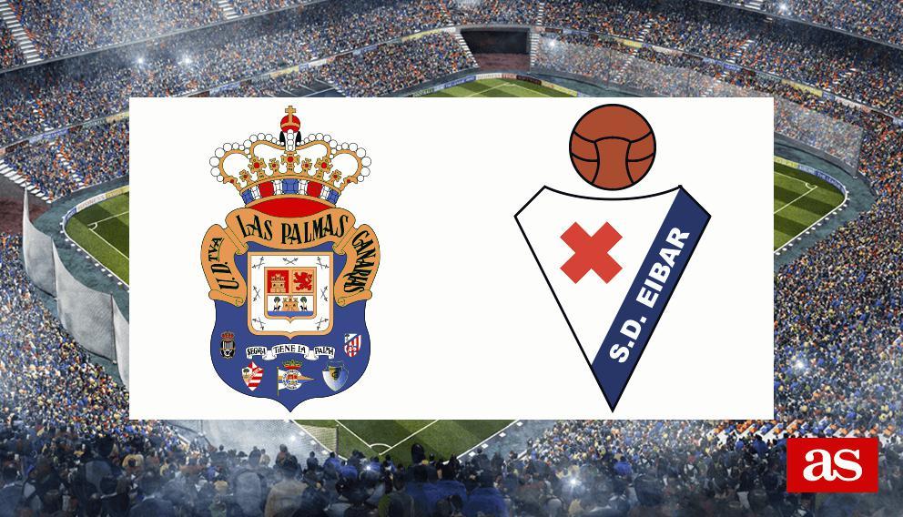 Las Palmas-Eibar: resumen, resultado y goles
