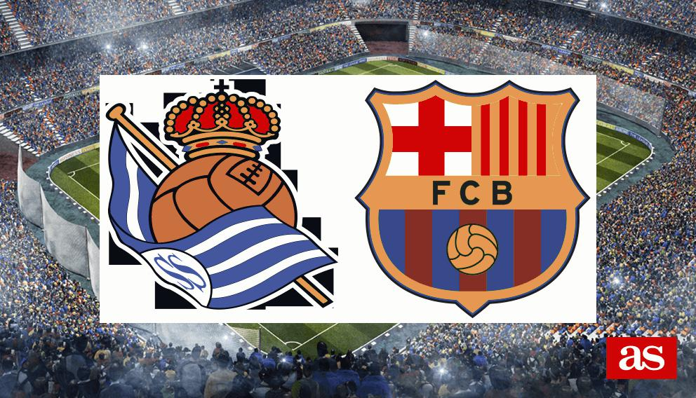 Real Sociedad - Barcelona: goles, resultado y resumen - Liga Santander