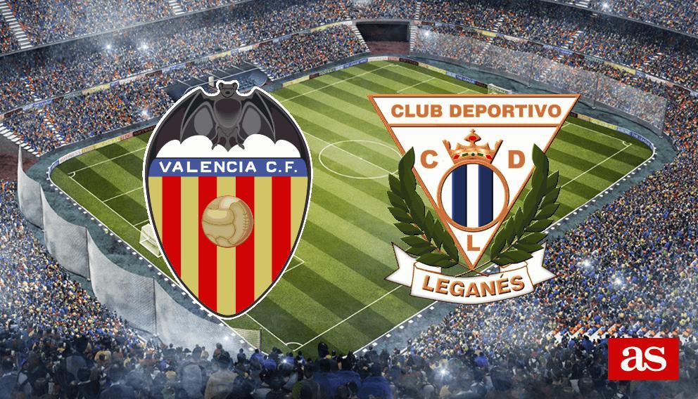 Valencia 2-1 Leganés : resumen, goles y resultado