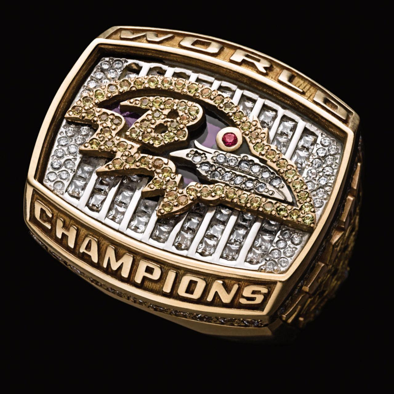 Baltimore Ravens 2001 champions ring