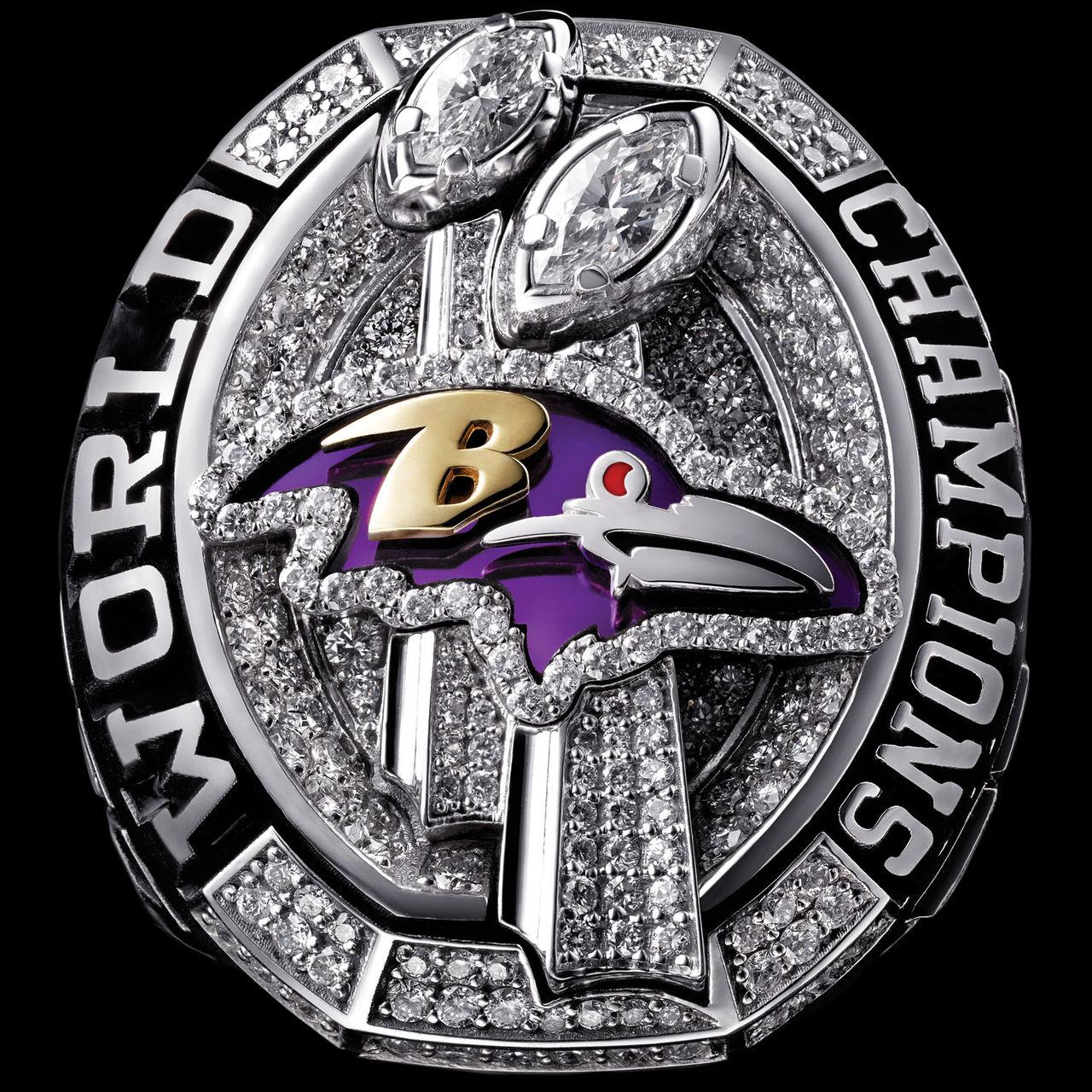 Baltimore Ravens 2013 champions ring