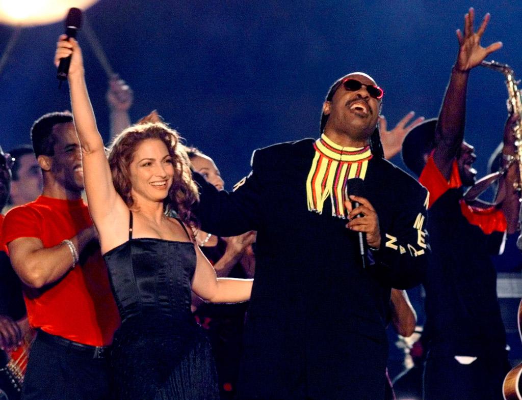 Gloria Estefan and Stevie Wonder