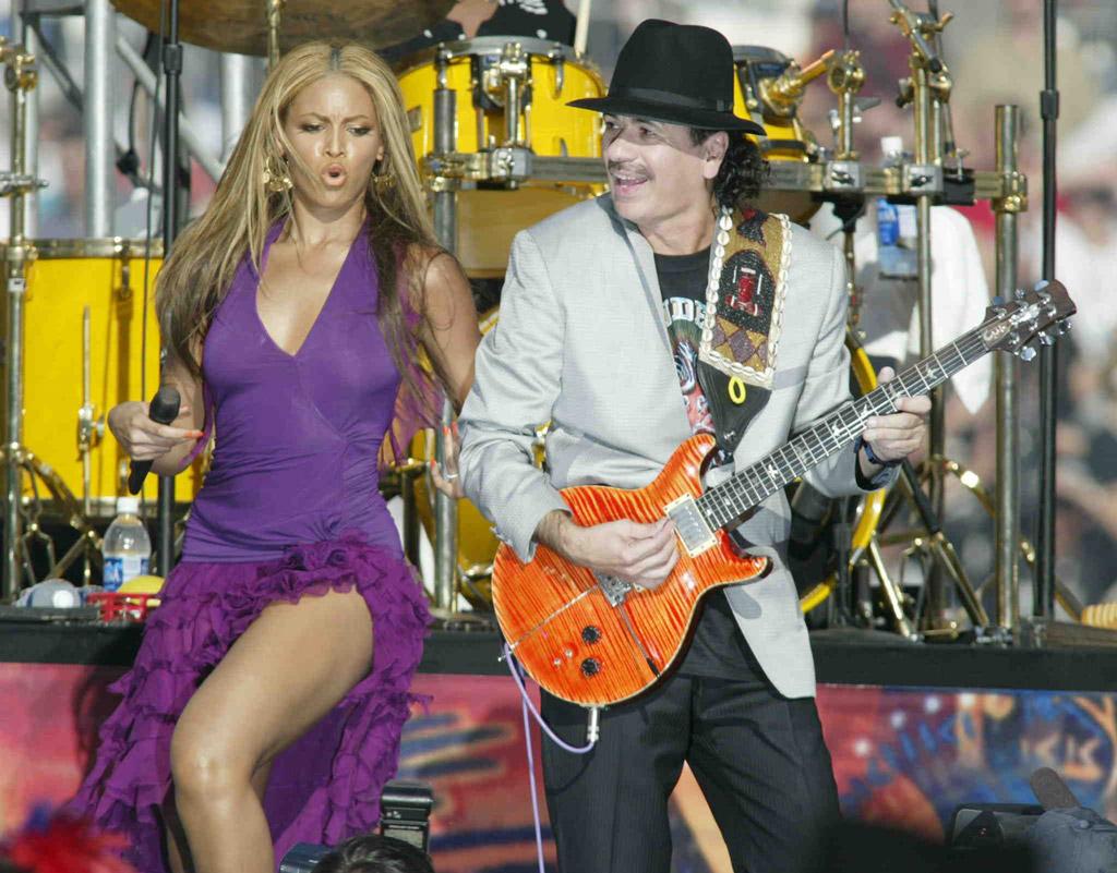 Beyonce and Carlos Santana