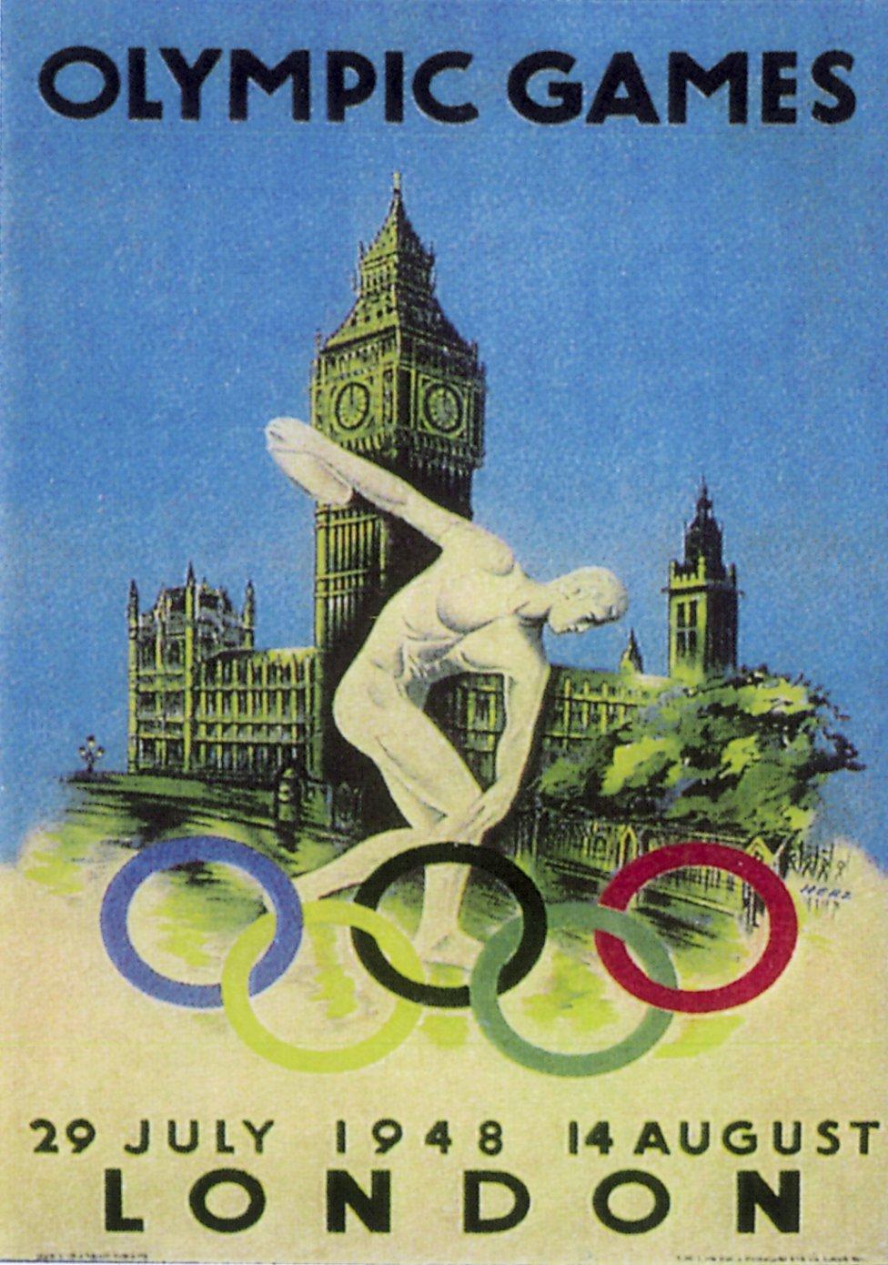 Cartel Juegos Olímpicos Londres 1948