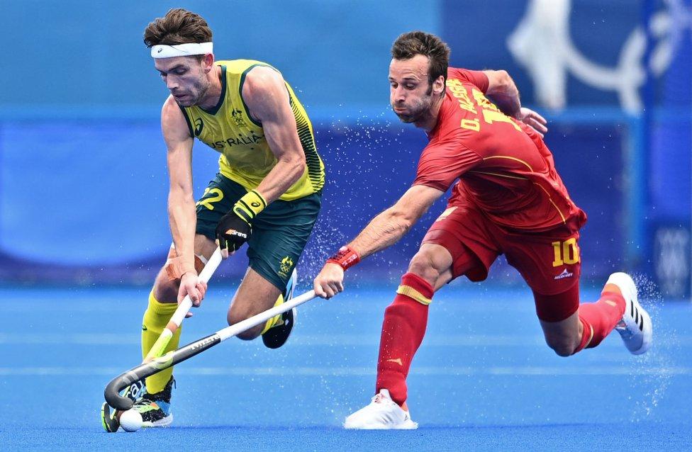 Hockey hierba España empate Australia