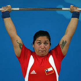La levantadora de peso chilena Elizabeth Poblete.