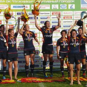 Las chicas del rugby a 7, campeonas ante Holanda