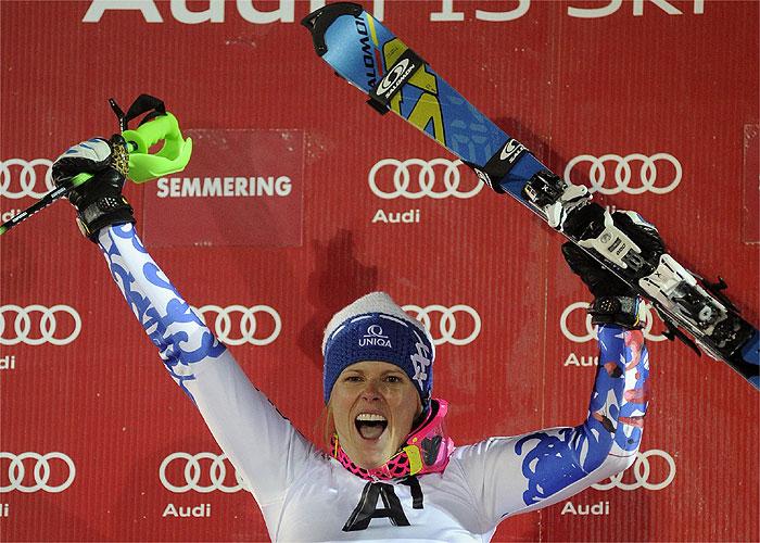 Velez Zuzulova logró su primer triunfo al ganar en Semmering