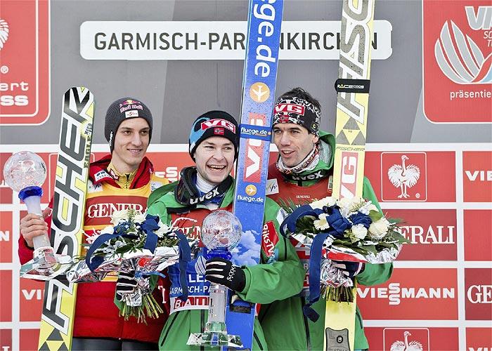 Jacobsen estrena el año con una nueva victoria en Garmisch