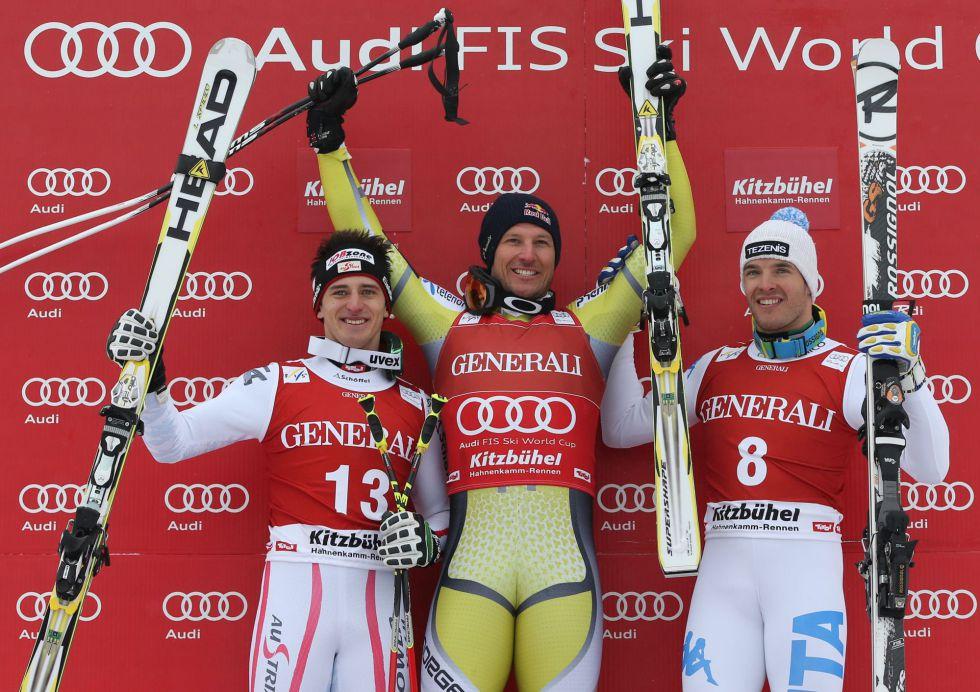 Aksel Lund Svindal ganó el supergigante de Kitzbuehel