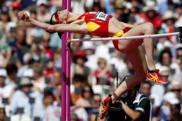 Ruth Beitia es segunda en Arnstadt con un salto de 1,94