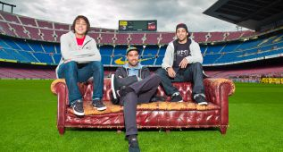 Tres de los mejores skaters del mundo, en el Camp Nou