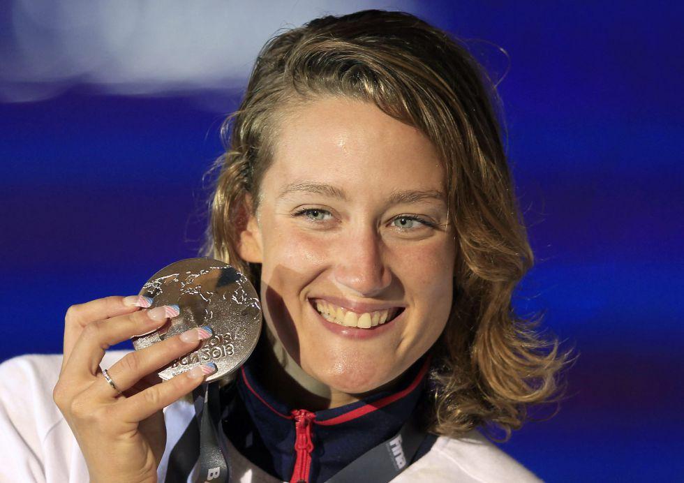 Mireia Belmonte gana su tercera medalla: la plata en 400 estilos