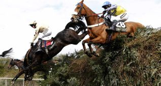 El caballo irlandés Teaforthree, favorito en el Grand National