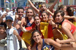 España fue bronce con bikini