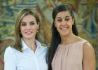 La Reina Letizia recibe en la Zarzuela a Carolina Marín
