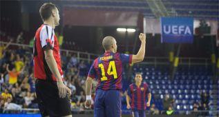 El Barça golea y se queda a un empate de la Final Four